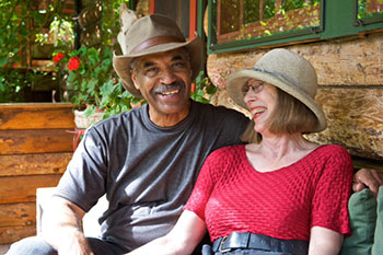 Lee and Peggy on Bungalow porch